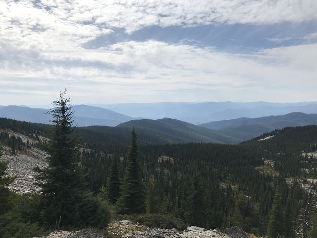 View west from Goat Pass