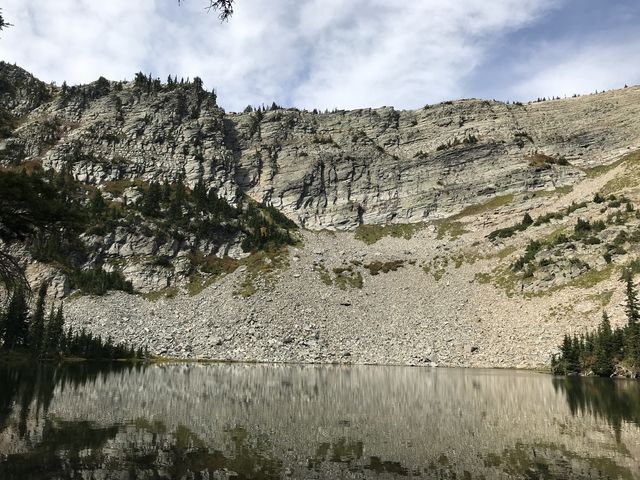 Upper Wanless Lake #1 and its headwall
