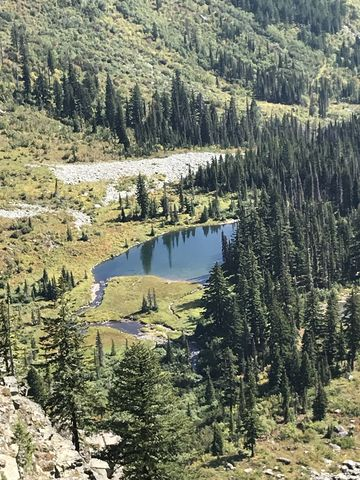 Buck Lake far, far below