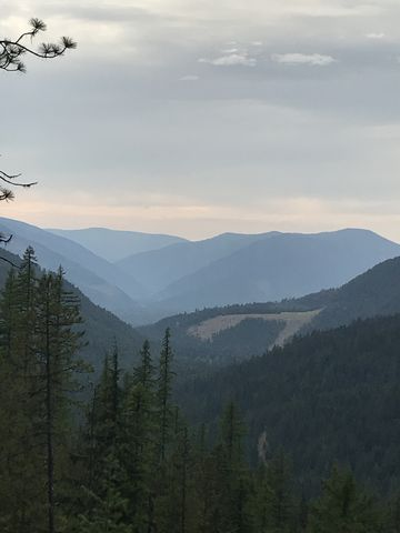 The mouth of McKay Creek, taken from Bearpaw trail
