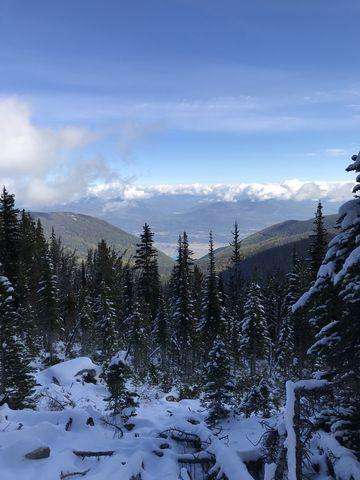 View past Farnham Ridge into the Kootenai river valley