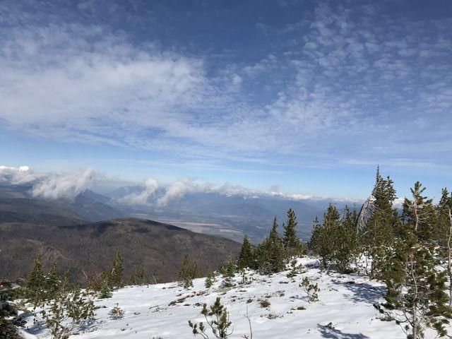 View north into Canada