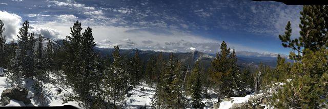 Panorama shot from Fisher Peak